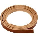 Læderbånd, ægte læder, natur, B. 10 mm, L. 2 m