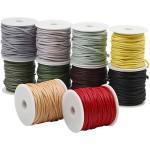 Bomuldssnøre - sortiment, 2 mm, stærke farver, 10x25 m