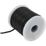 Lædersnøre, 2 mm, sort, 10 m