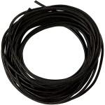 Lædersnøre, 2 mm, sort, 4 m