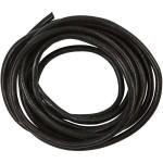 Lædersnøre, 4 mm, sort, 2 m