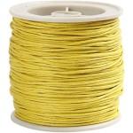 Bomuldssnøre, 1 mm, gul, 40 m