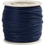 Bomuldssnøre, 1 mm, blå, 40 m