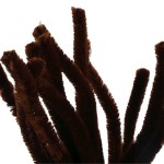 Chenille, 15 mm, brun, 15 stk.