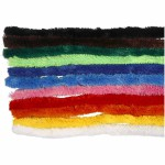 Chenille, 25 mm, ass. farver, 60 ass.