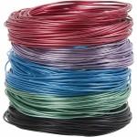 Alutråd - sortiment, 1,5 mm, ass. farver, 5x20 m