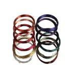 Blød smykketråd - sortiment, 0,5 mm, ass. farver, 12x8 m