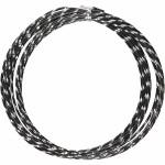 Alutråd, 2 mm, sort, diamond-cut, 7 m