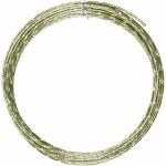 Alutråd, 2 mm, grøn, diamond-cut, 7 m