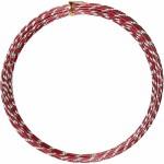 Alutråd, 2 mm, rød, diamond-cut, 7 m