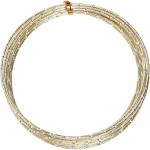 Alutråd, 2 mm, guld, diamond-cut, 7 m