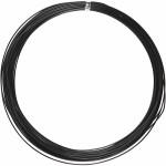 Alutråd, 1 mm, sort, rund, 16 m