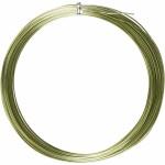 Alutråd, 1 mm, grøn, rund, 16 m