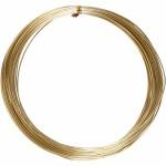 Alutråd, 1 mm, guld, rund, 16 m