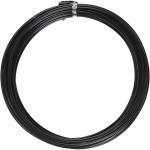 Alutråd, 2 mm, sort, rund, 10 m