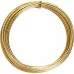 Alutråd, 2 mm, guld, rund, 10 m
