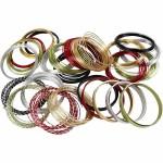 Alutråd, 0,5-2 mm, ass. farver, rund, flad og diamond-cut, 25 rl.