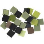 Minimosaik, 10x10 mm, grøn harmoni, 25 g