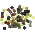Minimosaik, 5x5 mm, grøn harmoni, 25 g