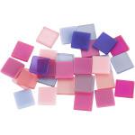 Minimosaik, 10x10 mm, lilla/pink harmoni, 25 g