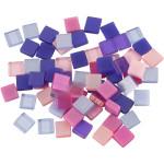 Minimosaik, 5x5 mm, lilla/pink harmoni, 25 g