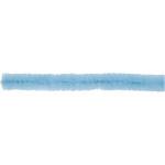 Chenille, 6 mm, blå, 50 stk.