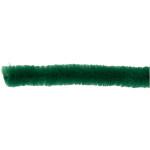 Chenille, 15 mm, mørk grøn, 15 stk.