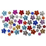 Rhinsten, 6+10+12 mm, ass. farver, blomster, 252 ass.