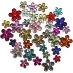 Rhinsten, 6+10+12 mm, ass. farver, blomster, 2520 ass.