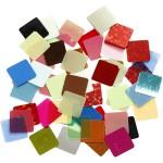 Paillet mosaik, 10x10 mm, ass. farver, 250 g