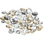 Rhinsten, 6+9+12 mm, sølv harmoni, runde, 360 ass.