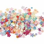 Blomsterpailletter, 5-20 mm, 10 g