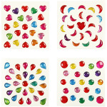 Ministickers, 7-11 mm, 100 ark