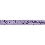 Satinbånd med print, 10 mm, lys lilla, 8 m