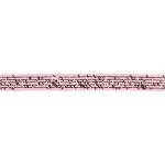 Satinbånd med print, 10 mm, rosa, 8 m