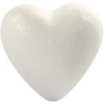Hjerte, 8 cm, styropor, 5 stk.