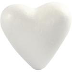 Hjerte, 11 cm, styropor, 5 stk.