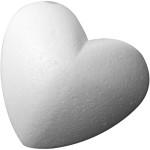 Hjerte, 11 cm, styropor, 25 stk.