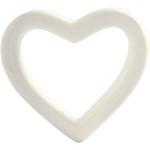 Hjerte, 13,5 cm, styropor, 1 stk.