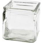 Firkantet lysglas, 10x10 cm, 12 stk.