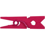 Mini tøjklemme, 25 mm, pink, 36 stk.