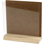 3D plade med glas, 15x15 cm, fyr, 1 sæt
