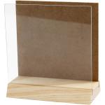 3D plade med glas, 10x10 cm, fyr, 1 sæt