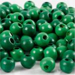 Træperler, 8 mm, grøn, 15 g