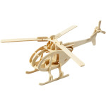 3D Puzzle, 26,5x14x26 cm, krydsfiner, helikopter, 1 stk.