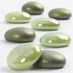 Glasdeko, 18-20 mm, grøn, 370 g