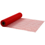Bordløber, 30 cm, rød, net, 10 m
