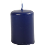 Bloklys, 4 cm, mørk blå, 12 stk.