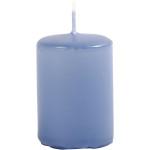 Bloklys, 4 cm, lys blå, 12 stk.
