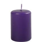 Bloklys, 4 cm, mørk lilla, 12 stk.